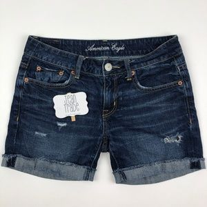 AEO American Eagle Distressed Jean Shorts